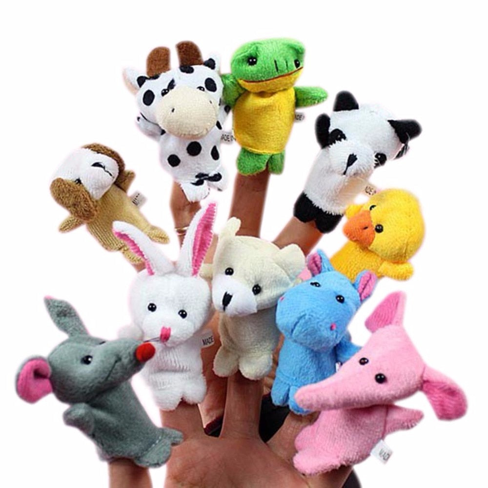 10 pc Animal Finger Puppet set - New Found Deals