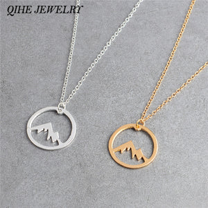 Mountain range Pendant Necklace - New Found Deals