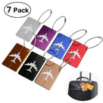 PIXNOX Aluminum Airplane Pattern Luggage Tag - New Found Deals
