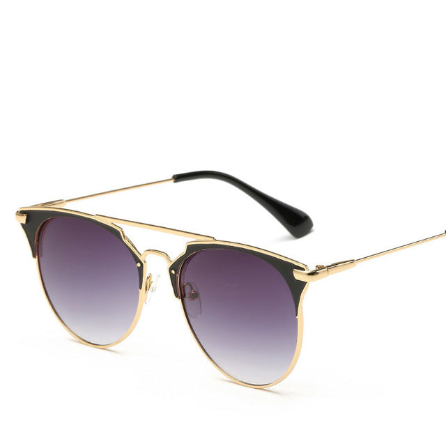 Women Vintage Cat Eye Aviator Sunglasses - New Found Deals