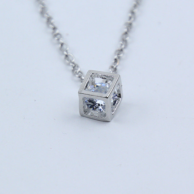 Crystal Rhinestone Pendant Necklace - New Found Deals