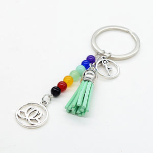 2018 New Mixed Healing Crystals Chakra Pray Keychain - New Found Deals