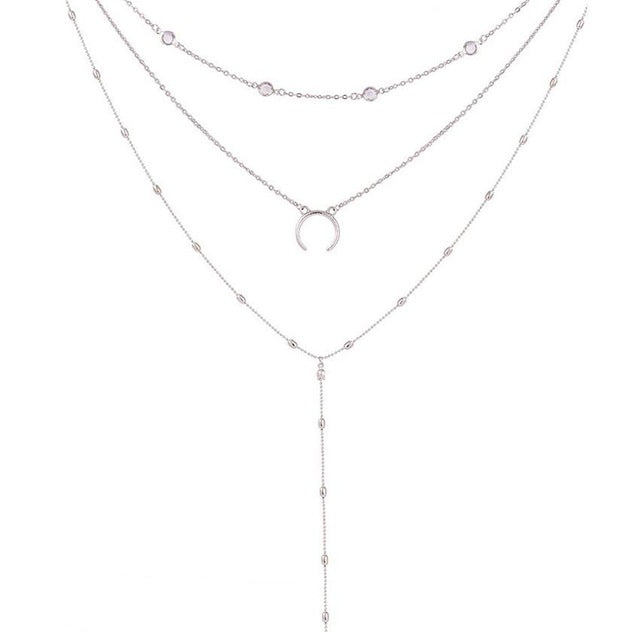 Moon Pendant Choker Necklace - New Found Deals