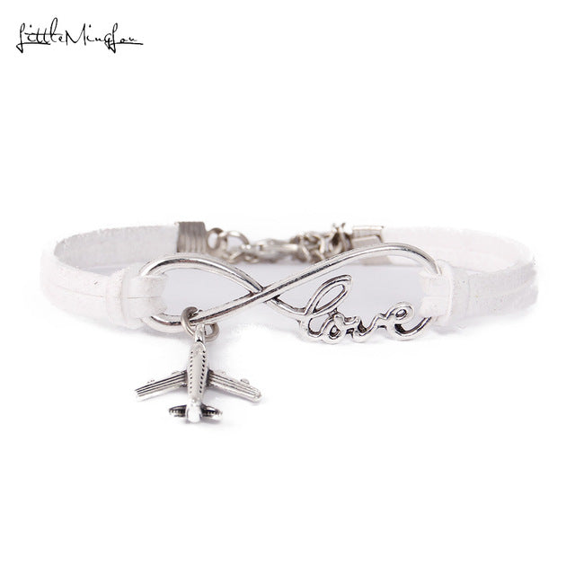 Infinity love Travel - Airplane Charm Bracelet - New Found Deals