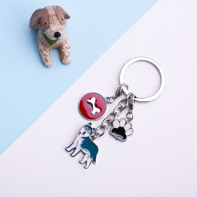 Dog Bone and Paw Key Chain - New Found Deals