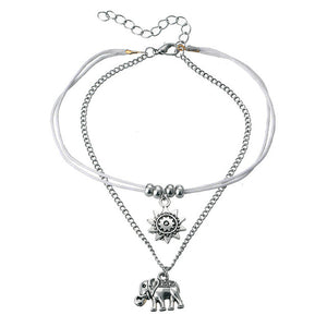 Vintage Star Elephant Anklets - New Found Deals