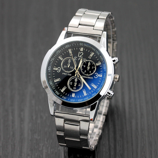 Luxury Full Stainless Steel Quartz Wrist Watch - New Found Deals