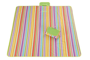 Foldable Patterned Waterproof Handy Folding Colorful Beach Mat with Strap - New Found Deals