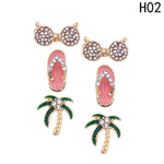 2018  three sets of Fashion Beach Theme Stud Earrings - New Found Deals