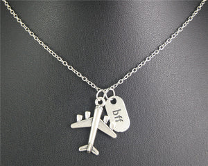 Airplane Pendant Necklace For Friends - New Found Deals