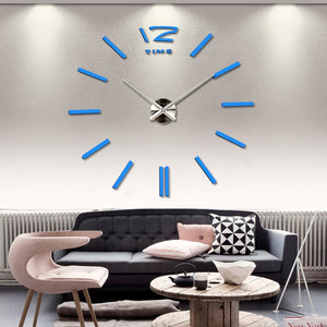 Trendy 3D Large Decal Wall Clock - New Found Deals