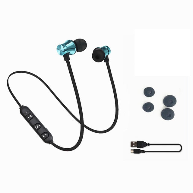 Bluetooth Earphone Headset with Charging Cable - New Found Deals