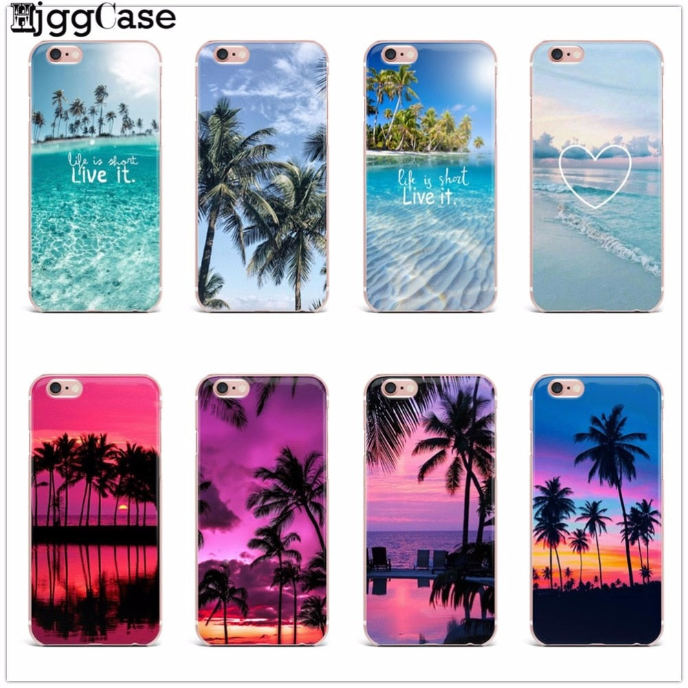 Beach Sea Landscape Clear Silicone iPhone Soft Case - New Found Deals