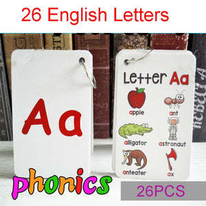 English Alphabet Letter Phonics Pocket Cards - New Found Deals