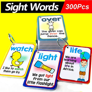 300Pcs/Set English Sight Words Flashcards - New Found Deals