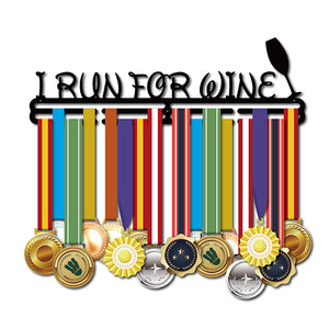 'I run for wine' Medal Holder - New Found Deals
