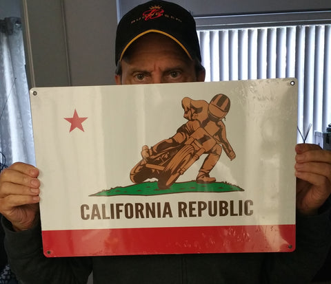 CALIFORNIA REPUBLIC (STATE FLAG DESIGN) FLATTRACK SIGN