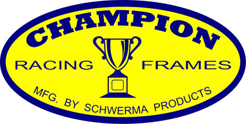 "CHAMPION FRAMES Sticker 4"" Oval"