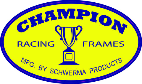 Champion Frames Metal garage Sign