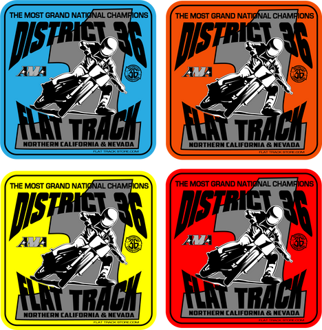 District 36 Flat Track Stickers New 2020 Design