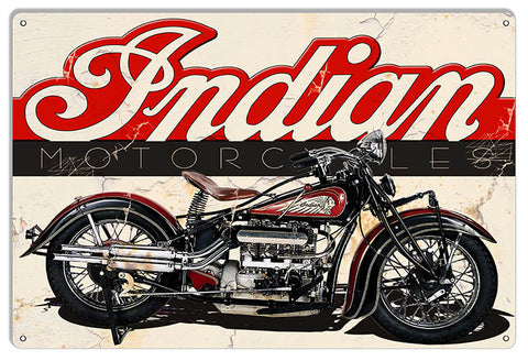 Indian Motorcycle Reproduction Man Cave Metal Sign 12x18