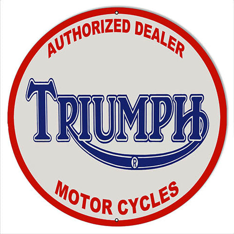 Triumph Motor Cycles Reproduction Garage Shop Metal Sign 14x14