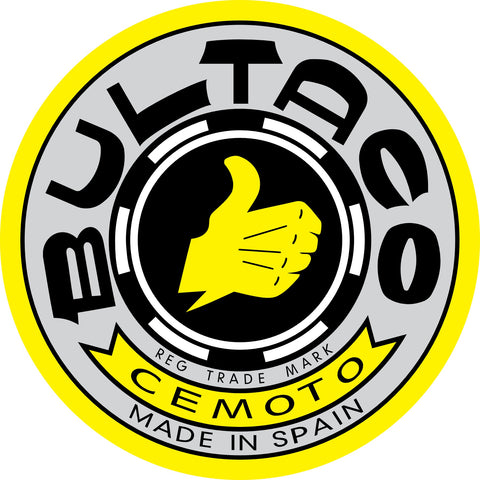 Bultaco Logo Metal Sign MSS101-12