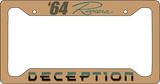 LICENSE PLATE FRAMES AND INSERTS - METAL/CUSTOM printed
