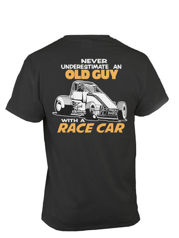 OLD GUY WITH A RACE CAR-WINGLESS
