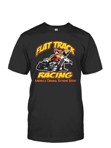 Flat Track-America's Original Extreme Sport- Fruit of the Loom Tee