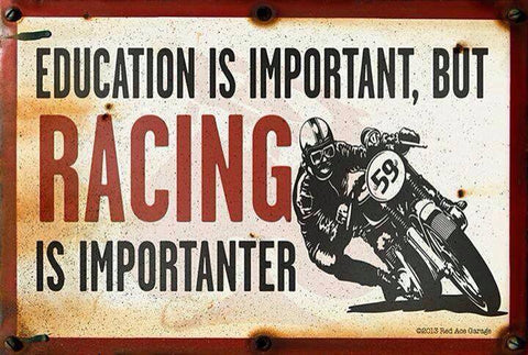 RACING IS IMPORTANTER STICKERS