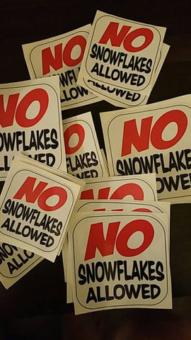 NO SNOWFLAKES STICKERS
