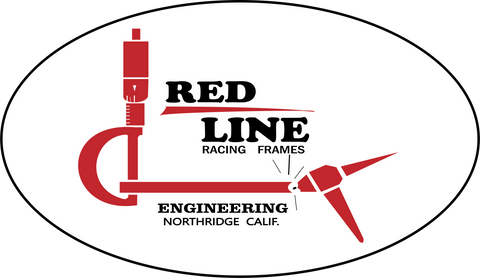 RED LINE RACING FRAMES STICKERS (3)