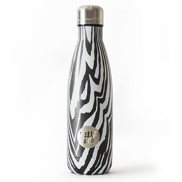 Feliz & Co Water Bottle - Zebra 500ml - Barefoot Blvd