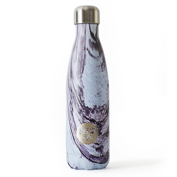 Feliz & Co Water Bottle - Purple Swirl 500ml - Barefoot Blvd