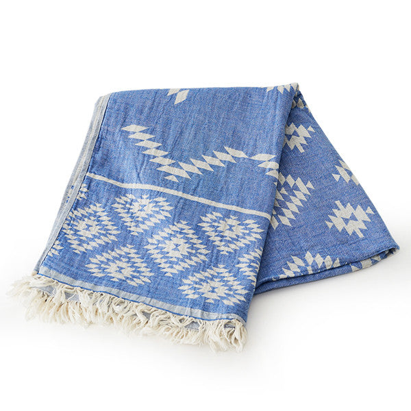 Feliz & Co Aztec Towel - Blue
