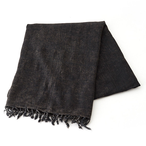 Feliz & Co Stonewashed Towel - Charcoal - Barefoot Blvd