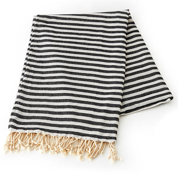 Feliz & Co Vintage Wategos Towel - Charcoal - Barefoot Blvd