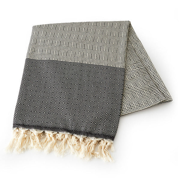 Feliz & Co Lennox Towel - Black - Barefoot Blvd