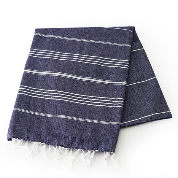 Feliz & Co Lighthouse Towel - Navy Blue - Barefoot Blvd