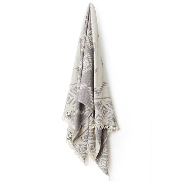 Feliz & Co Aztec Turkish Towel - Charcoal - Barefoot Blvd