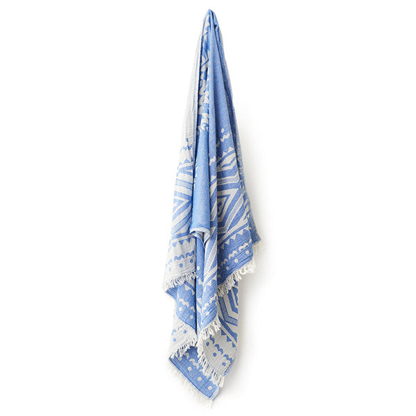 Feliz & Co Aztec Towel - Blue - Barefoot Blvd