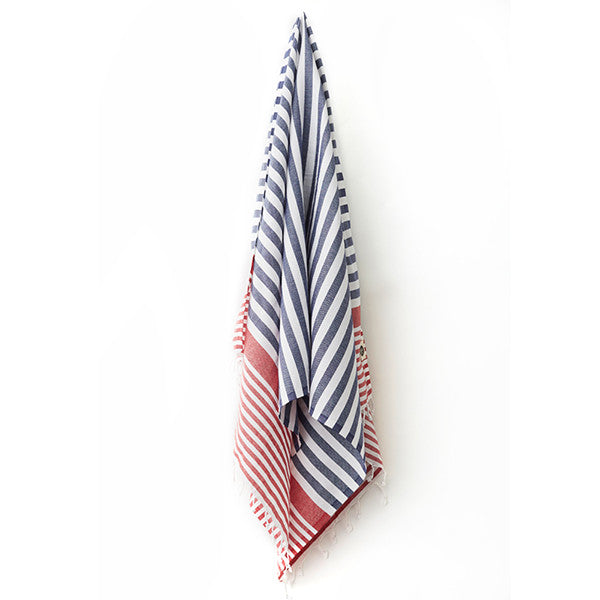 Feliz & Co Byron Towel - Blue/Red - Barefoot Blvd