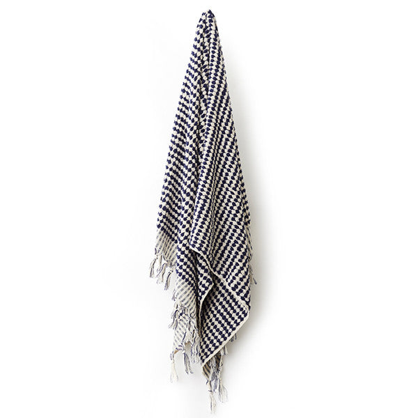 Feliz & Co Pom Pom Towel - Black and White