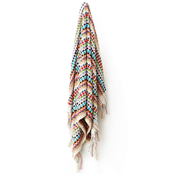 Feliz & Co Pom Pom Rectangle Towel - Multi - Barefoot Blvd