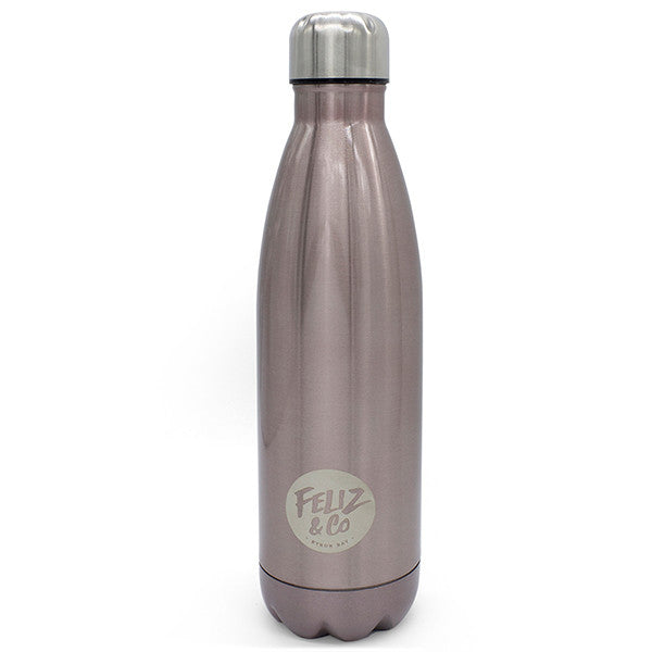Feliz & Co Water Bottle - Champagne 500ml - Barefoot Blvd