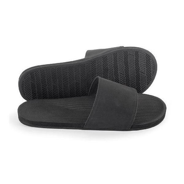 Indosole Mens Essential Slide - Black - Barefoot Blvd