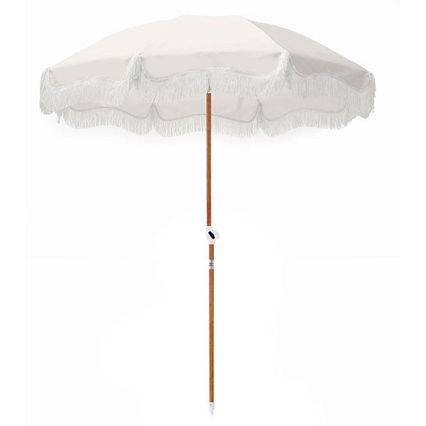 Business & Pleasure Holiday Beach Umbrella - Antique White - Barefoot Blvd