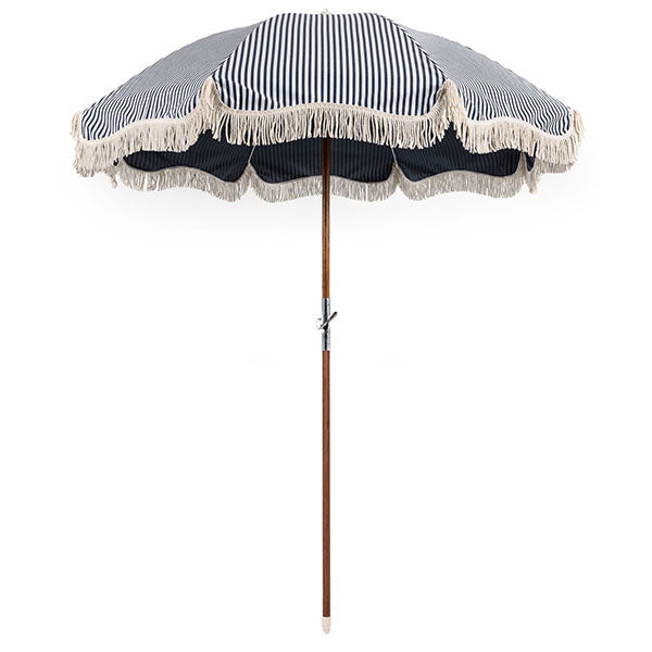 Business & Pleasure Premium Umbrella - Laurens Stripe Navy - Barefoot Blvd