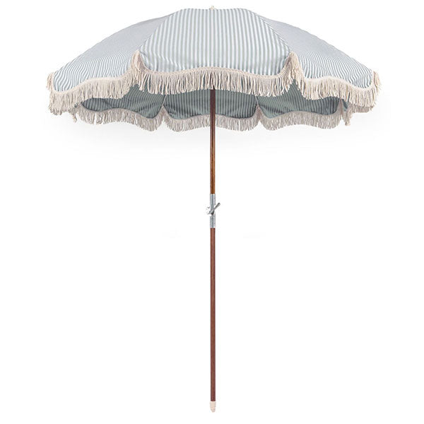 Business & Pleasure Premium Umbrella - Laurens Stripe Sage - Barefoot Blvd